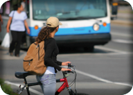 Transit rider, pedestrian, and/or bicyclist